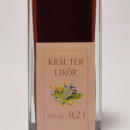 Kräuter Likör 容量:200ml, 350ml アルコール度数:25% エキス分:14%未満 ローズマリー、セージ、オレガノ、クローブなど10種類のフレッシュハーブが活きる