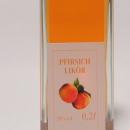 Pfirsich Likör 容量:200ml, 350ml アルコール度数:20% エキス分:18%未満 アフターは最後にキュッと引き締まり桃の稀有な酸味を演出する