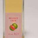 Melonen Likör 容量:200ml アルコール度数:18% エキス分:19%未満 赤肉メロン80%、スイカ20%の比率で蒸溜されすっきりとメロンの余韻を楽しめる